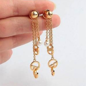 Tory Burch Drop Dangle Gold Pl Earrings NEW